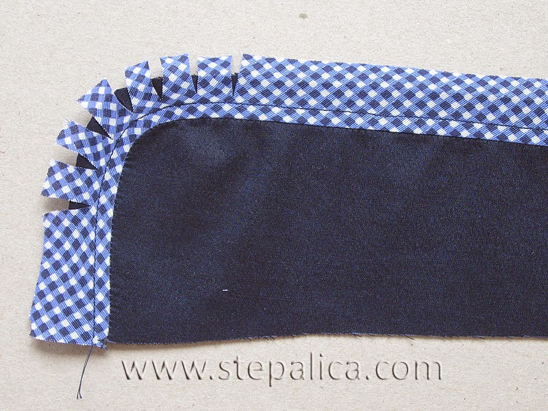 Štepalica: How to finish a shirt collar with a bias band