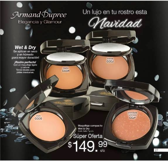 maquillaje compacto wet & dry C-15-14
