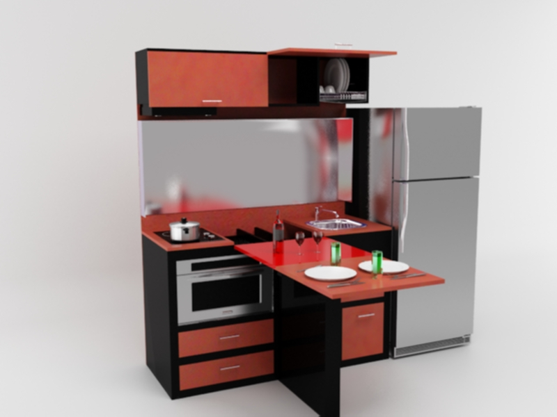 Proyecto cocina para espacios reducidos evolucion for Diseno de espacios pequenos