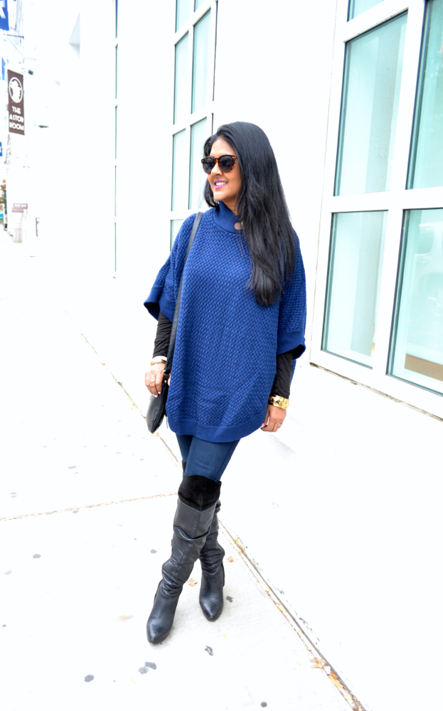 Astoria in Heels poncho fall trends