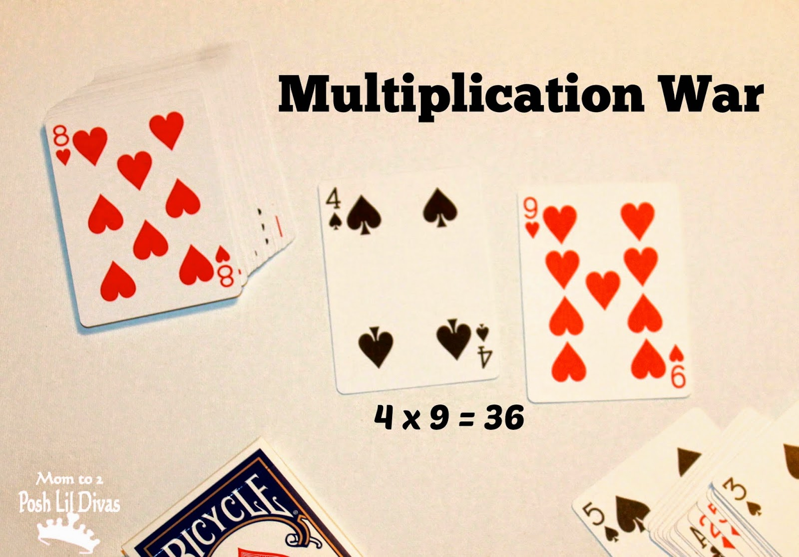 multiplication war card game directions