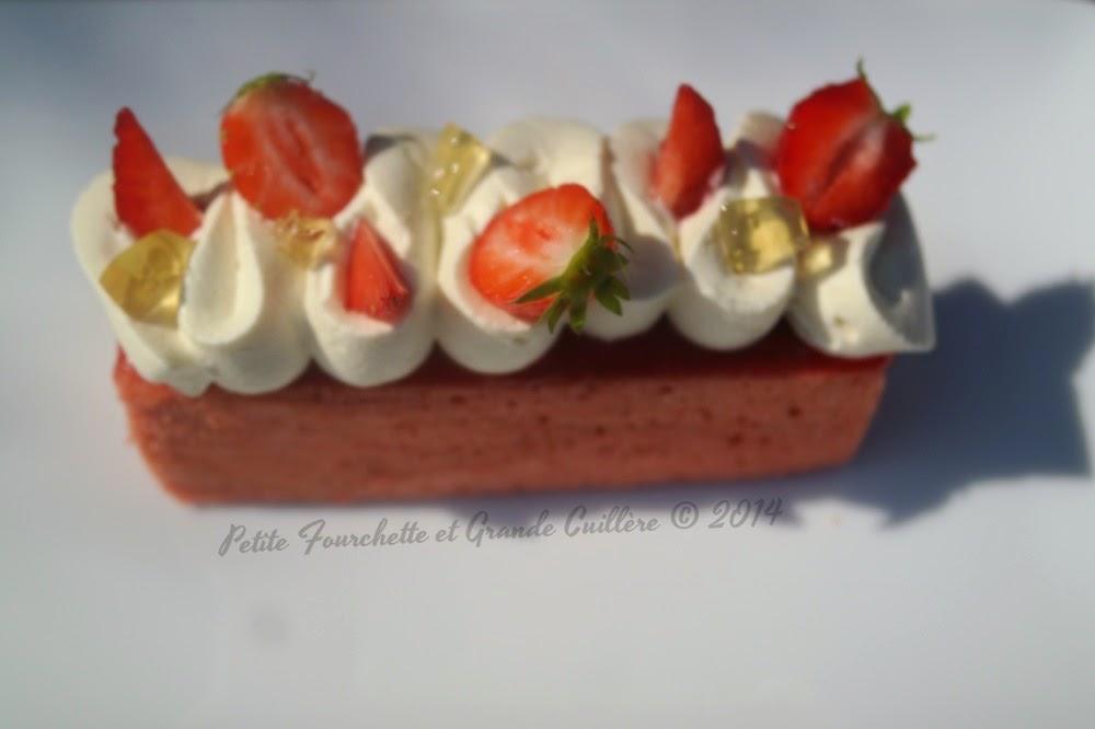 Cake Too Fraise et Perle de Rosé