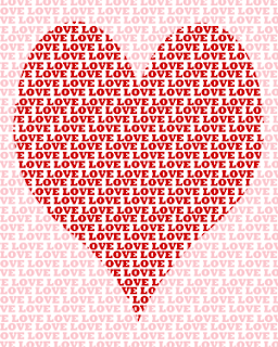 red and pink love heart printable