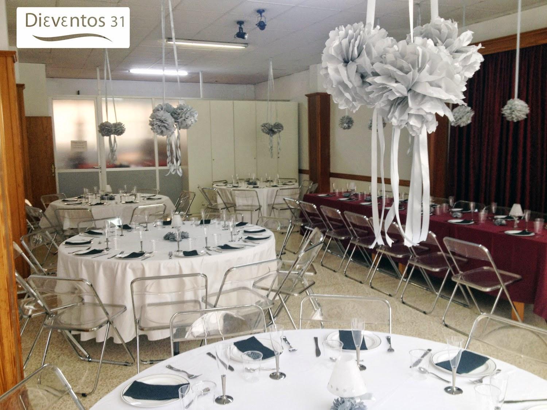 decoracion con globos para bodas de plata