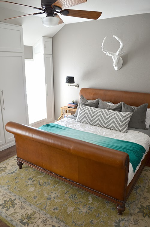 Perfect  the perfect bed for the master bedroom I had all but given up when I spotted a gorgeous leather sleigh bed from Ethan Allen on Craigslist