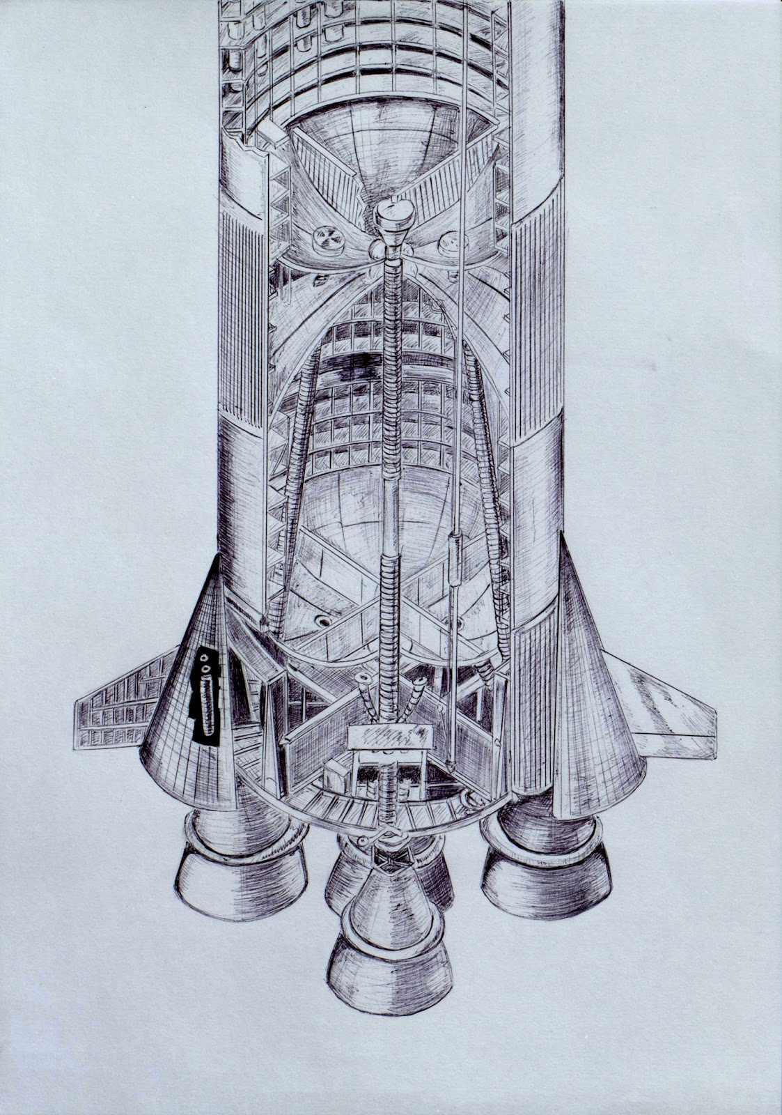 apollo rocket drawing - photo #15
