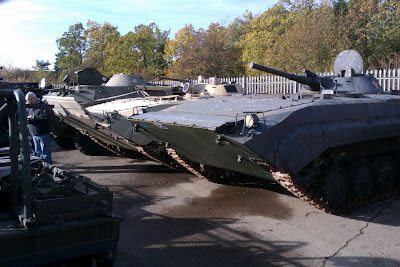 Captured Russian APCs and tanks at Witham Specialist Vehicles