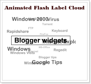 Flash Label Cloud Widget For Blogger