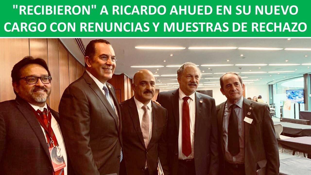RENUNCIAS Y MUESTRAS DE RECHAZO