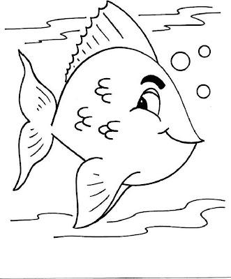 Desenhos Para Colorir Peixinhos legais