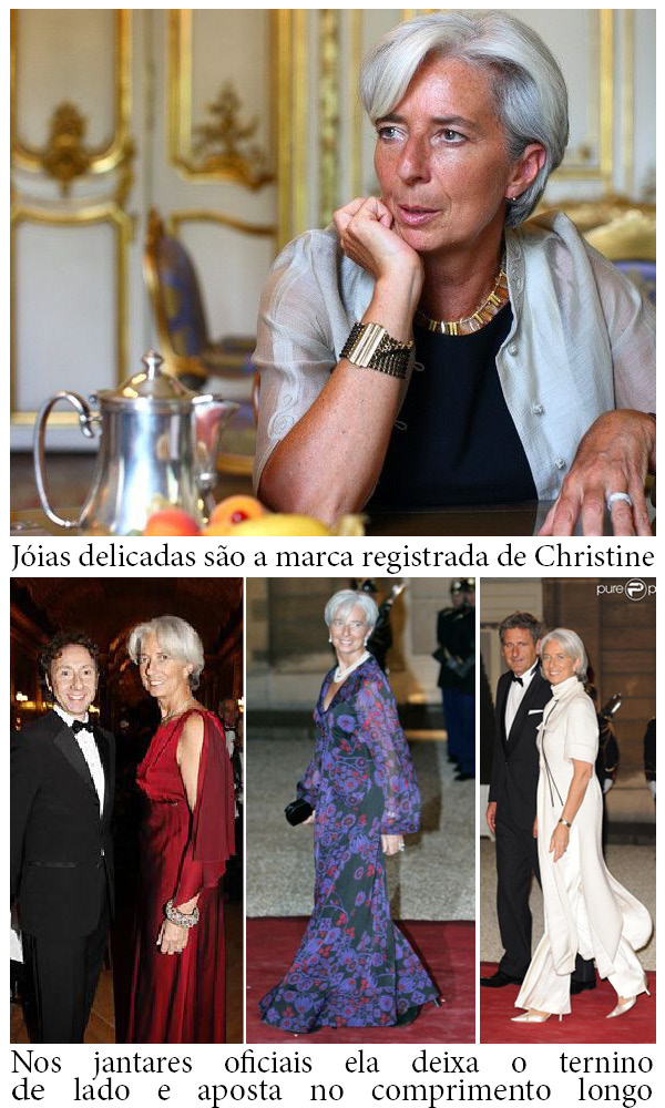 O estilo do Christine Lagarde, a diretora do FMI.