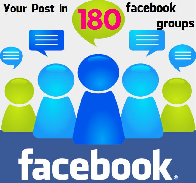 Post in 180 Facebook Groups