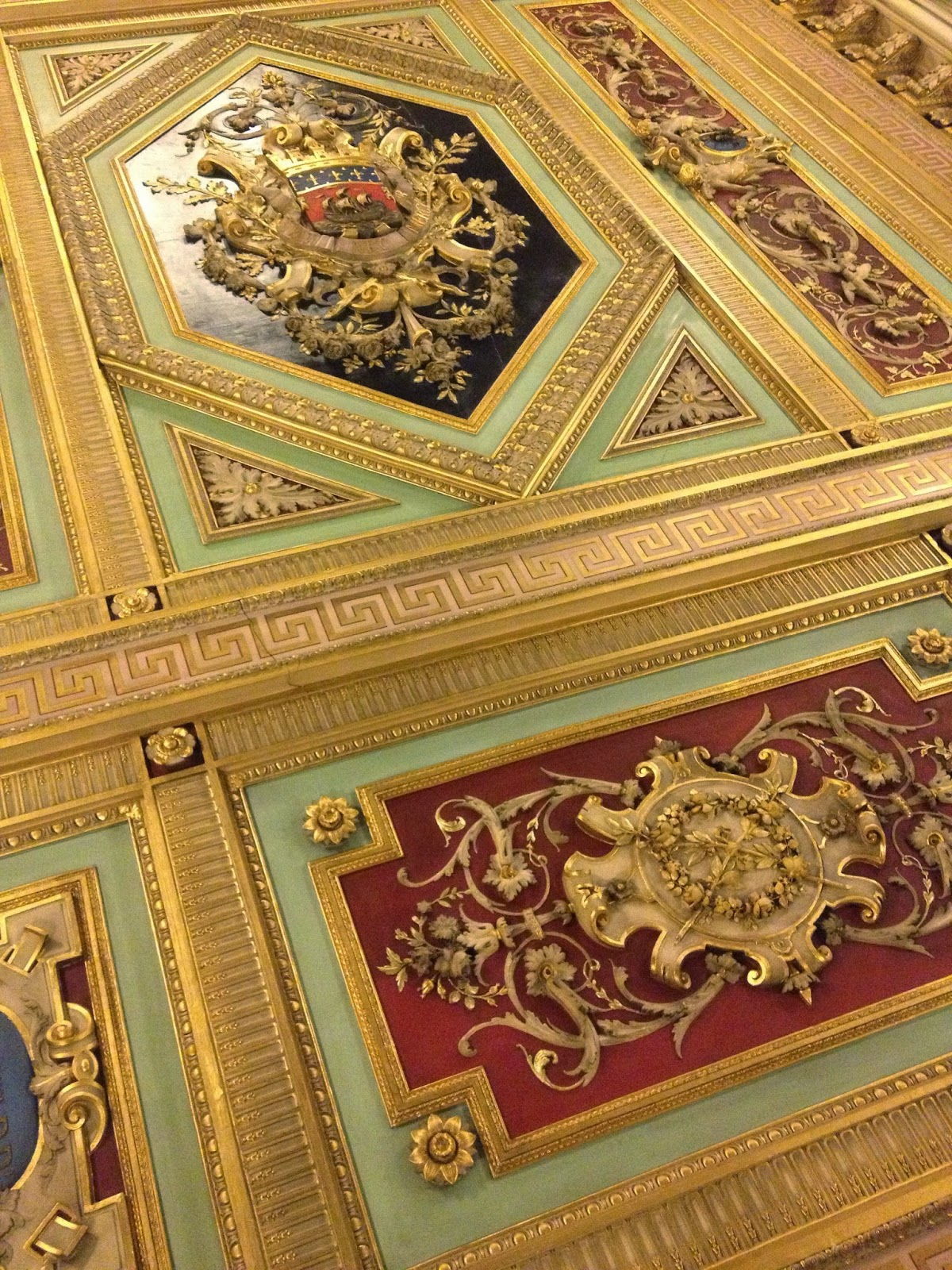 Exquisite ceiling at the Mairie du 7e, Paris