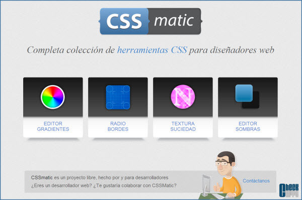 CSSmatic-gradients-borders-texture-noise-shadow-css-desarrollo web
