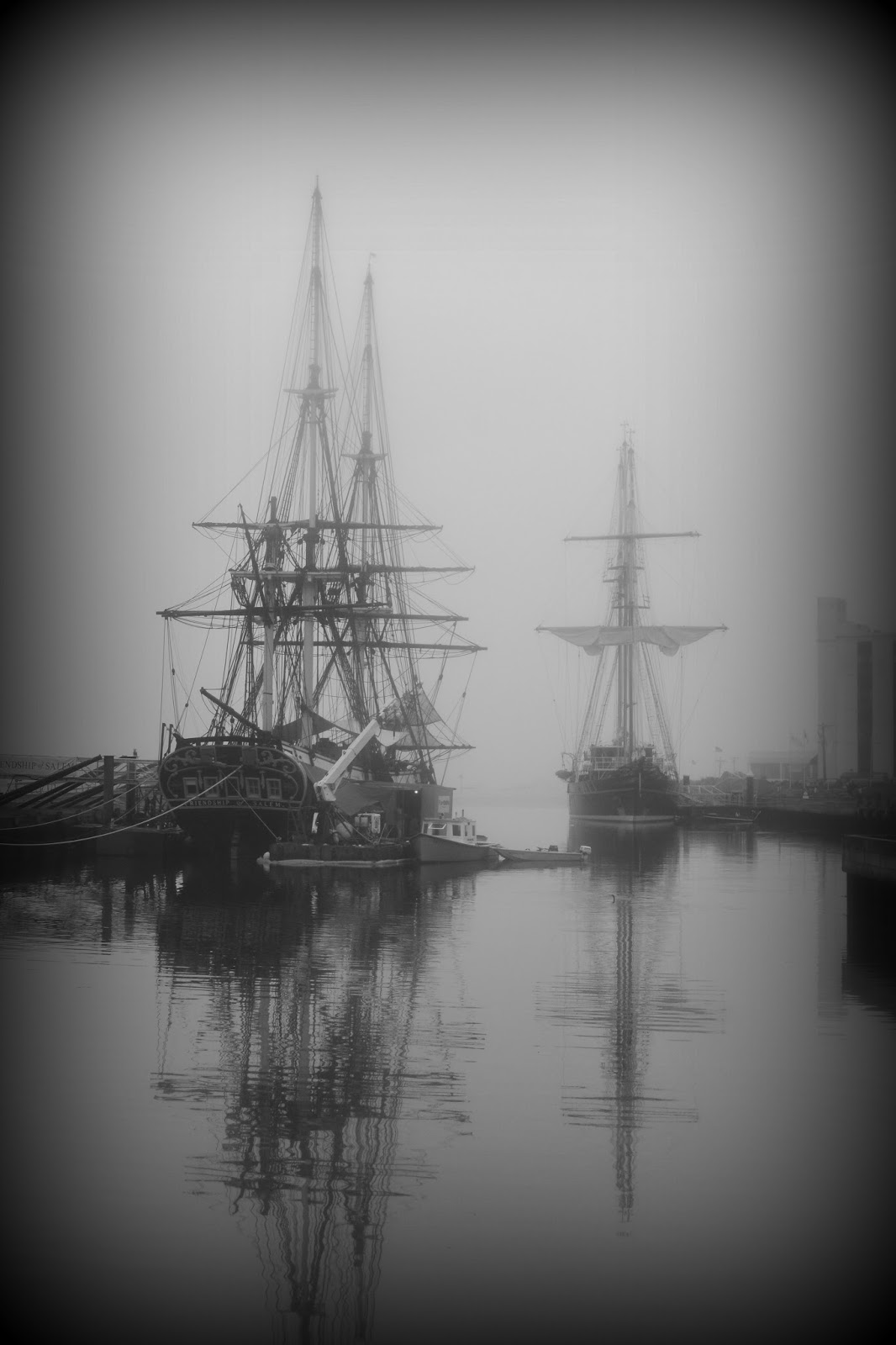 ship, friendship, peace, fog, salem, wharf, sail, sailing, friendship of salem, peacemaker