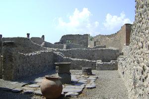 Ruínas da cidade de Pompéia na Itália