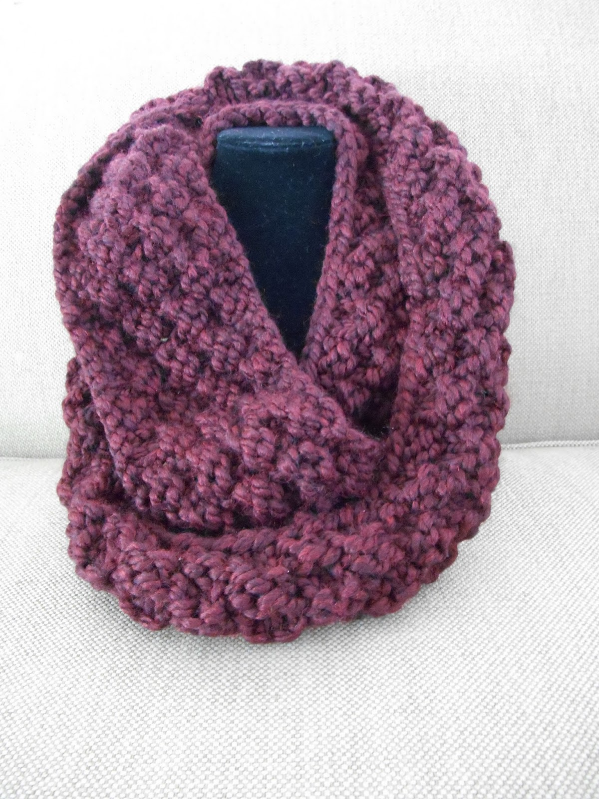 Knitting Patterns Scarf Size 19 Needles : Knitting with Schnapps: Introducing the Neck Nuzzler Infinity Scarf!