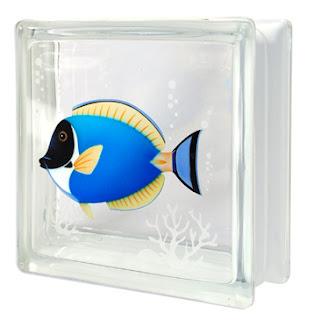 บล็อกแก้ว ปลาเป็ดฟ้า