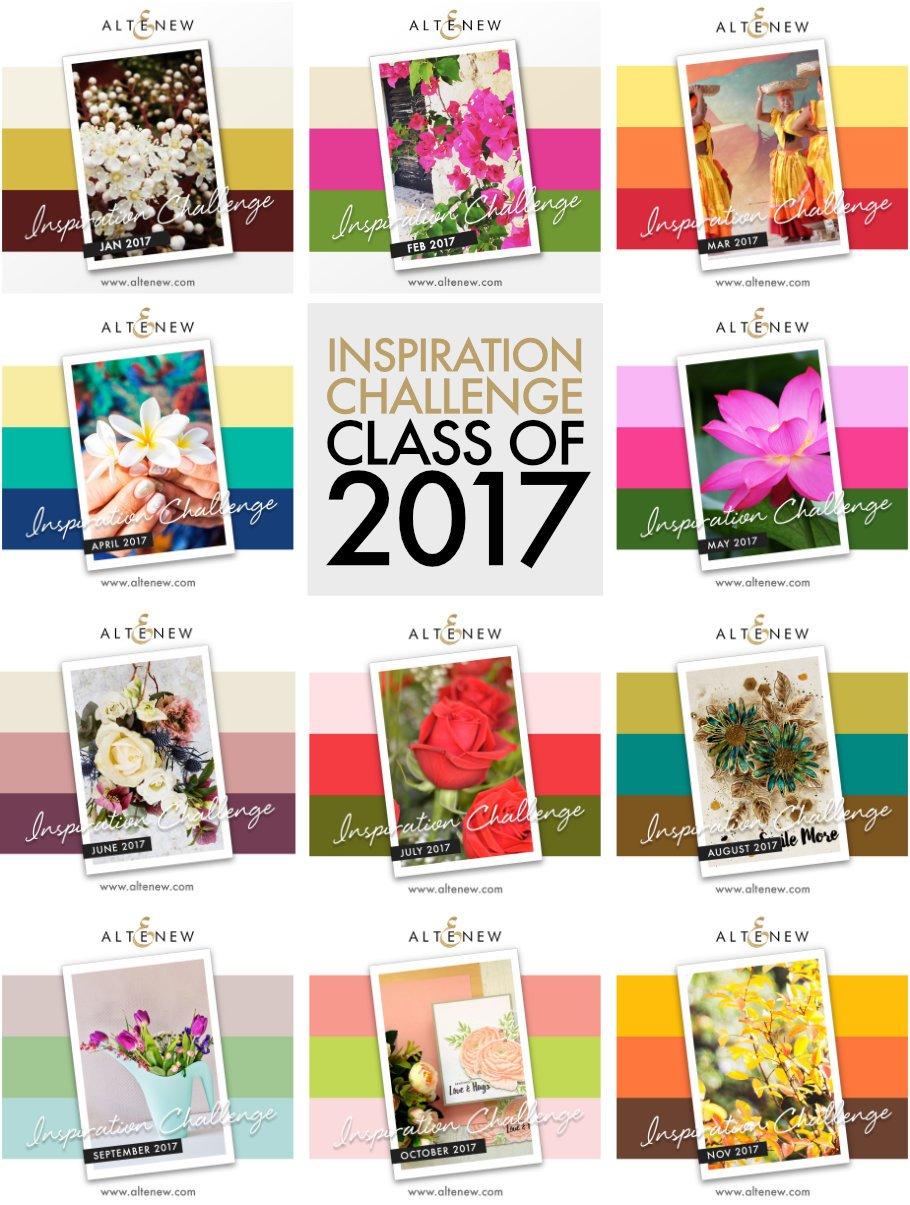 I won Altenew  inspiration challenge of 2017