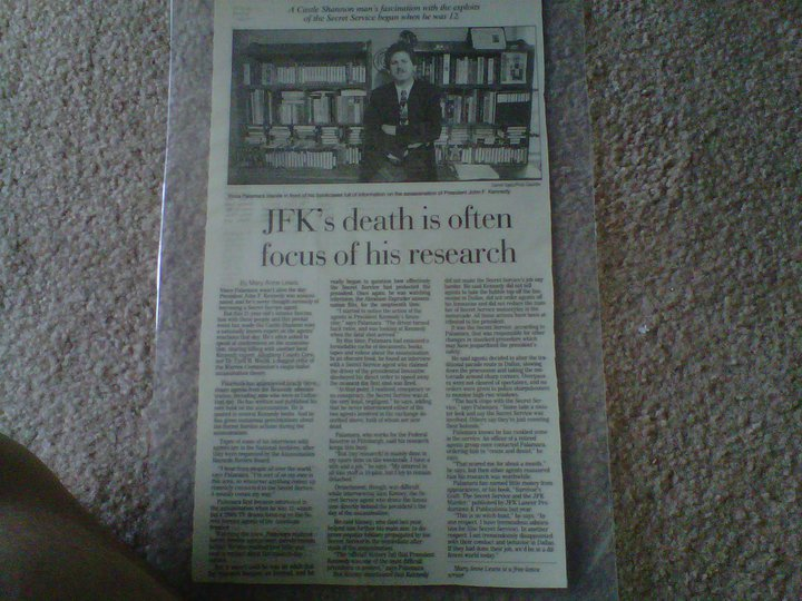 My big January 26, 1998 Post Gazette feature write-up (inc a Darryl Sapp photo of myself)