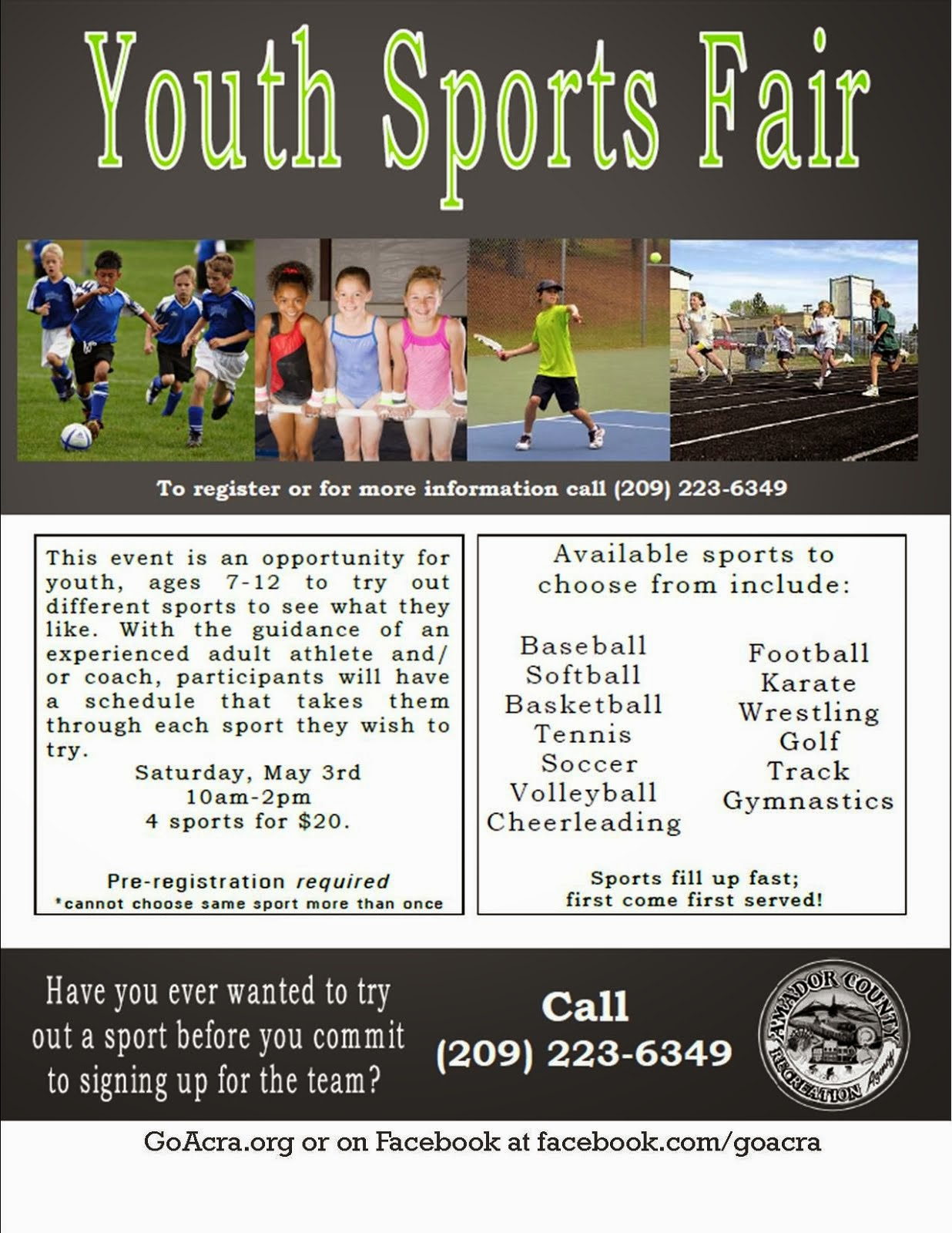 Youth Sports Fair - Sat May 3