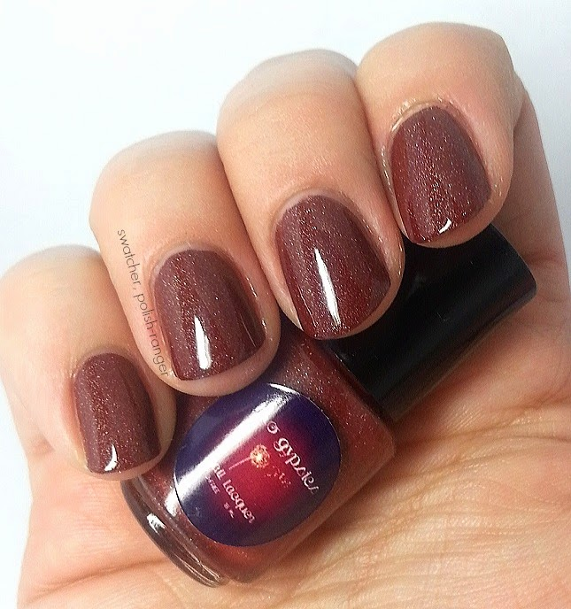 Two Gypsies Lacquer Chilean Chocolate swatch