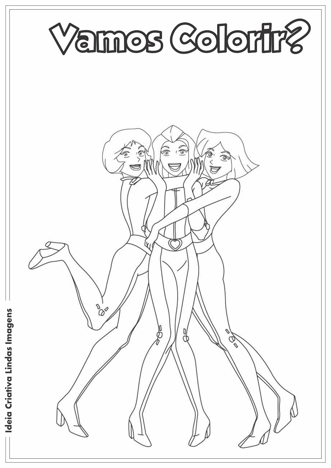 Três Espiãs Demais desenho pra colorir