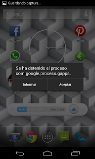 Error Android: com.google.process.gapps play store nexus 4