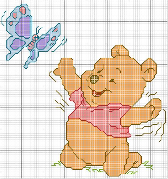 punto croce winnie the pooh baby