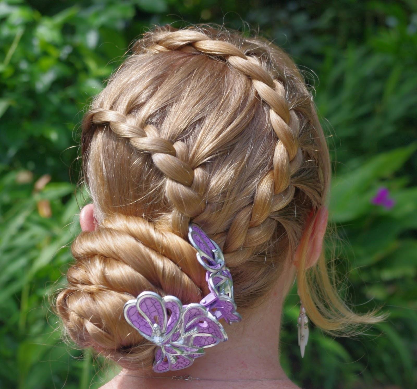 Braids & Hairstyles For Super Long Hair: Purple Hairclip