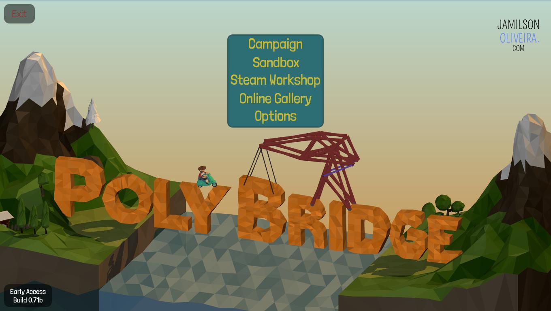 Indicação: Jogo Poly Bridge + Como baixar e instalar