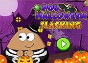 juego Pou Halloween Slacking