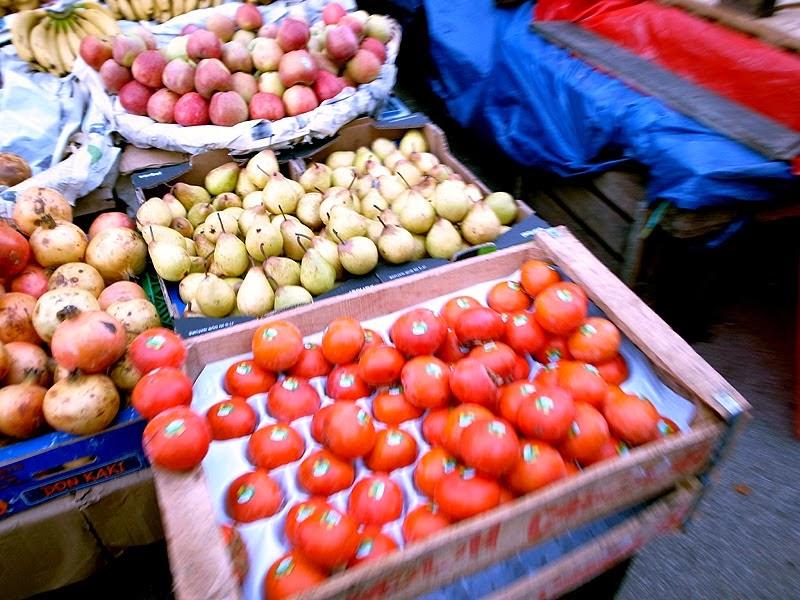スークの野菜売り場