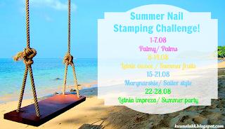 Summer Nail Stamping Challenge - tydzień 4