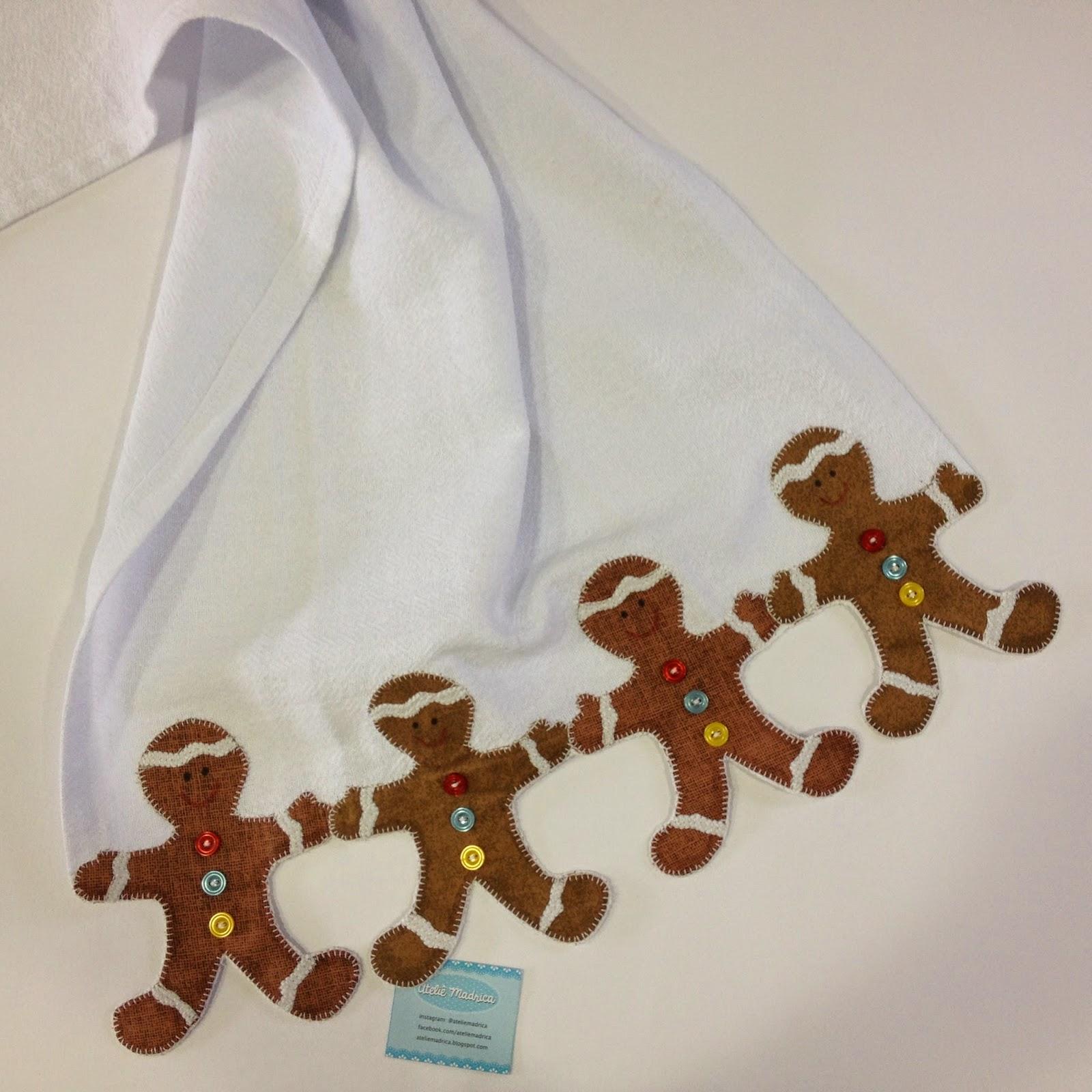 Pano de prato Gingerbread