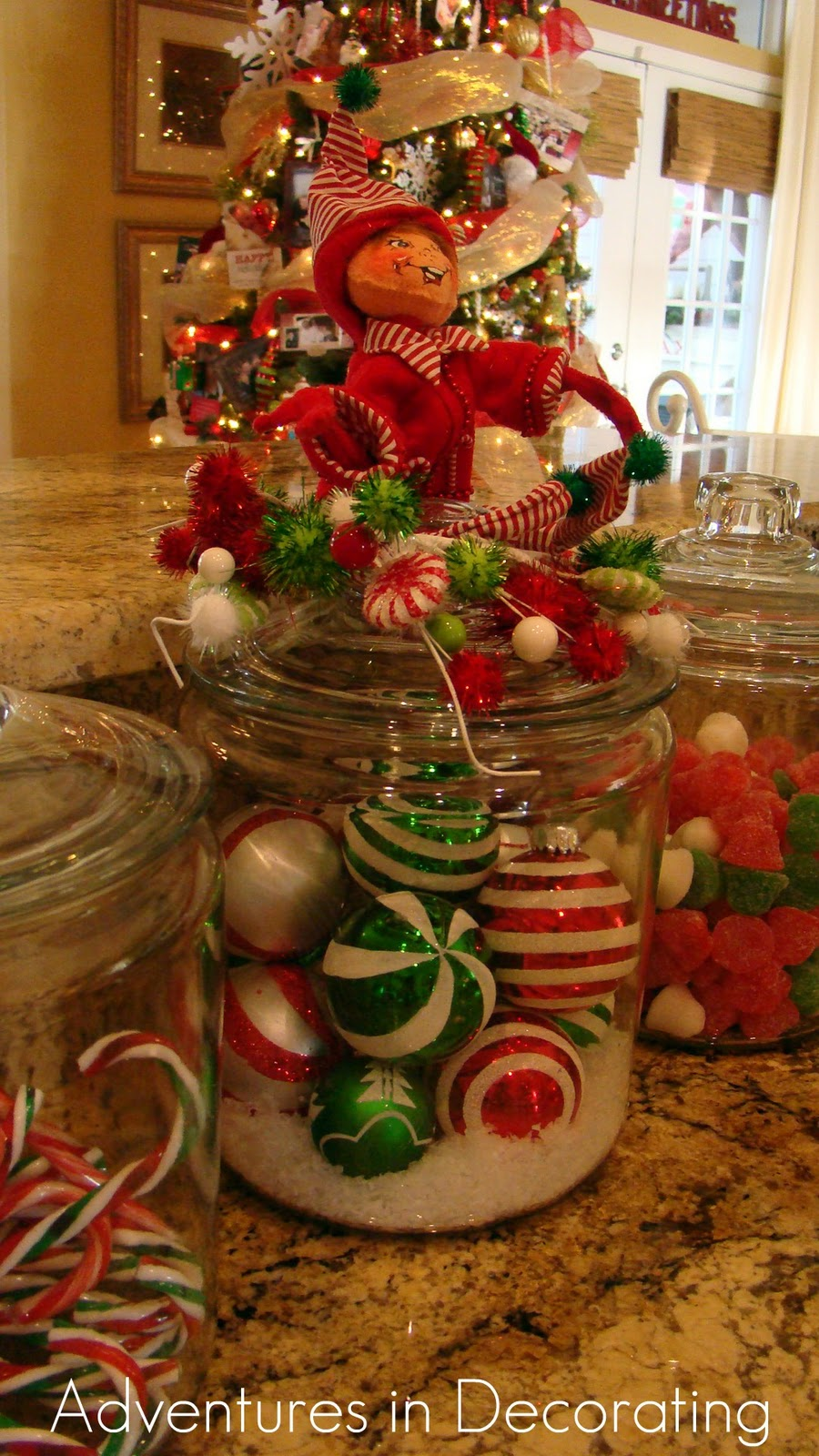 Christmas Decorating Ideas Kitchen Island : Adventures in decorating whimsical christmas kitchen