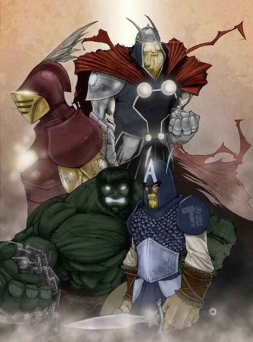Ole Avengers por Pumaboy3d