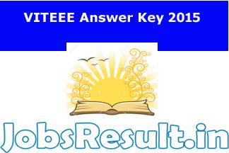 VITEEE Answer Key 2015