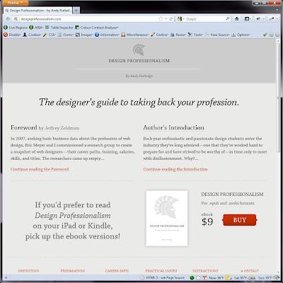 Screen shot of http://designprofessionalism.com/.