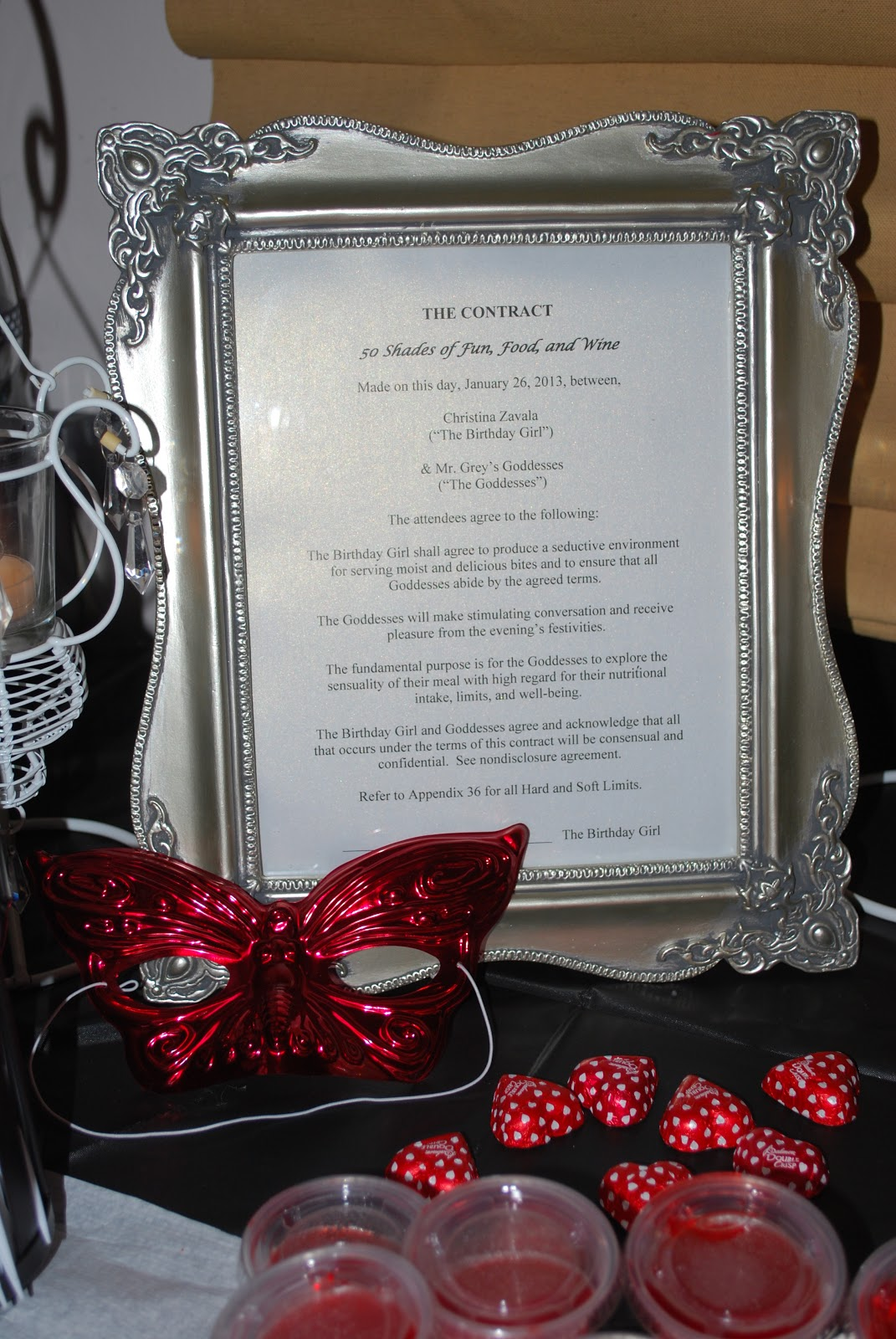 whimsy wise events fifty shades of grey party and party christian grey s contract