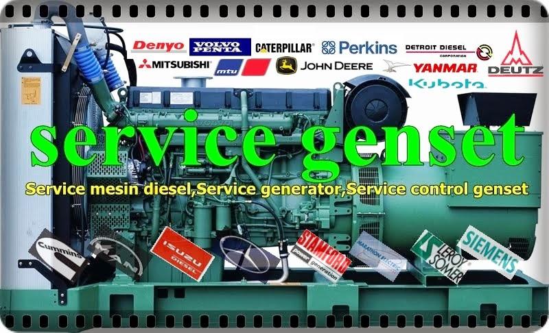 melayani service mesin diesel,generator dan control genset