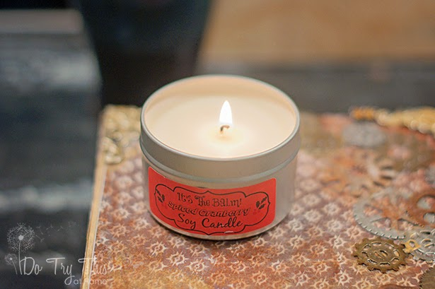 cranberry spiced holiday candle