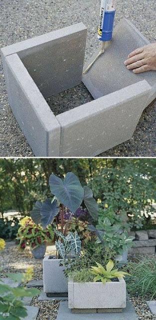 Construir macetas a partir de losetas o baldosas
