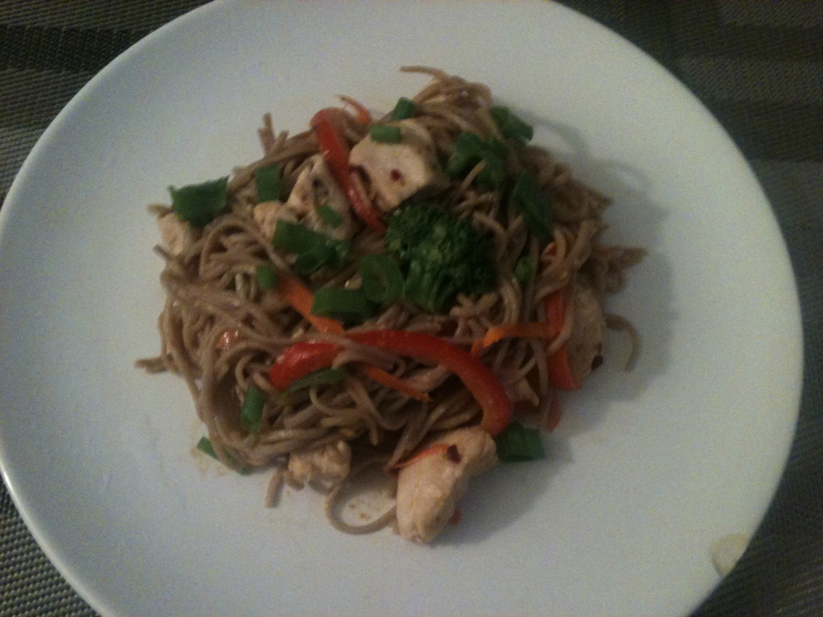 Cookin with the KaptainSpicy Soba Noodles with Chicken in