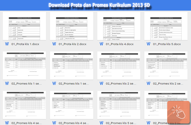 Download Contoh Prota dan Promes Kurikulum 2013 SD