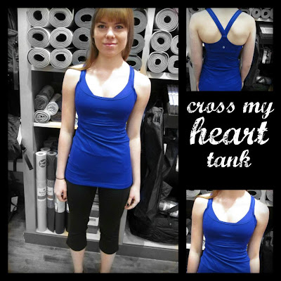 lululemon cross my heart tank in pigment blue