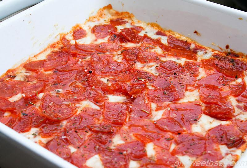 Pizza Dip - Oh Sweet Basil