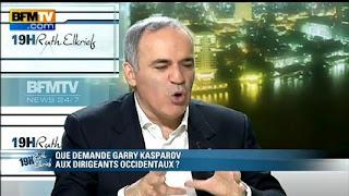 Garry Kasparov, invité de Ruth Elkrief sur BFM