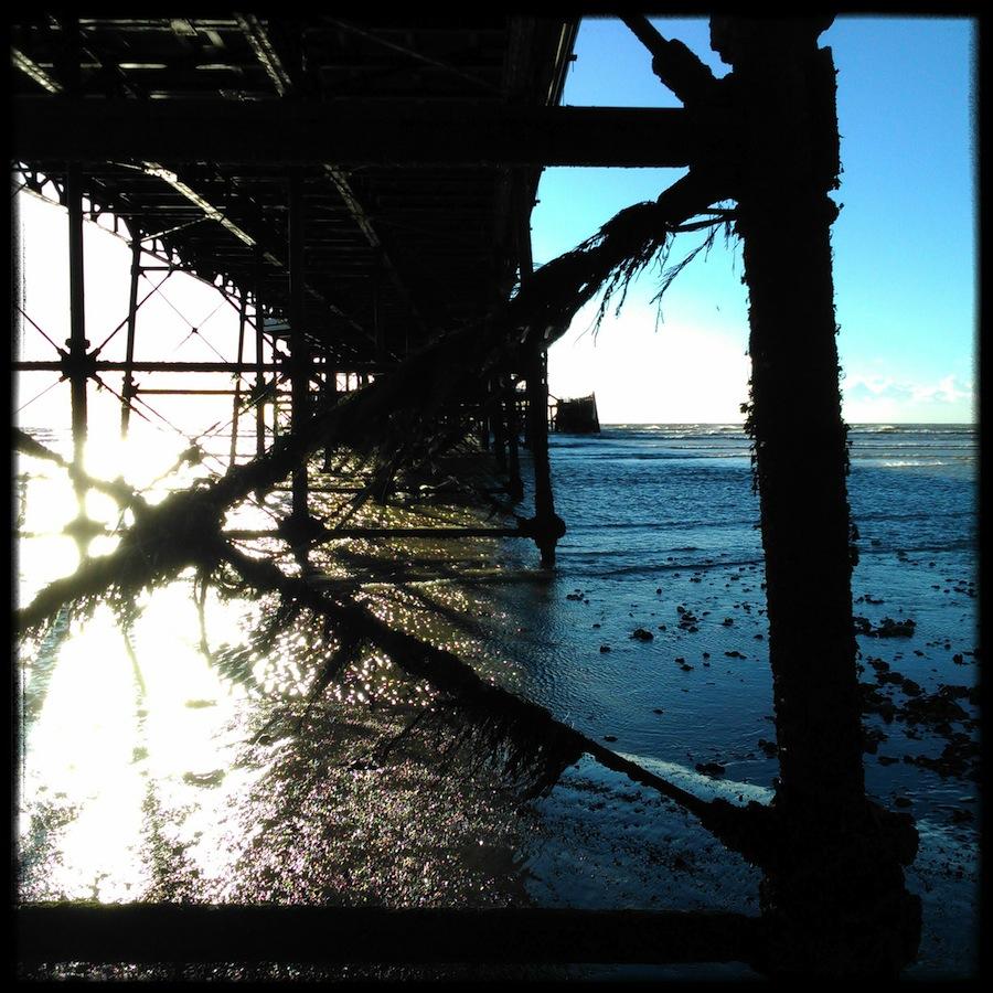 Seaweed webs the Pier's legs