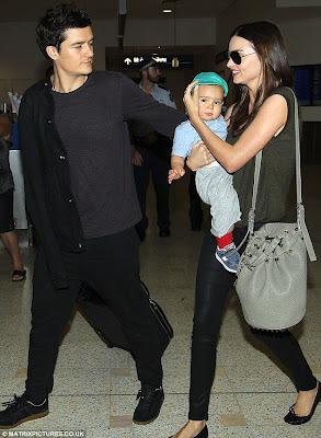 Orlando Bloom Miranda May Kerr and Baby Flynn Bloom Family Photo